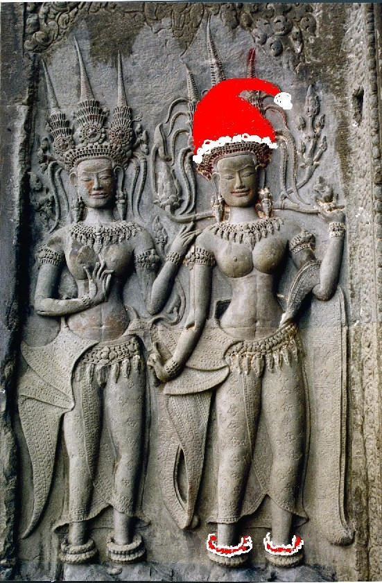 Not sure who to credit for this photoshoped Apsara! It's been going around the emails in the past few years.