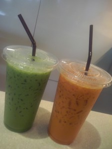 things I love about Bangkok – Thai Iced Tea and Iced Green Tea