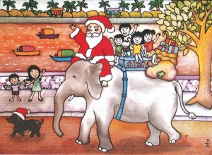 Christmas cards with a Khmer twist