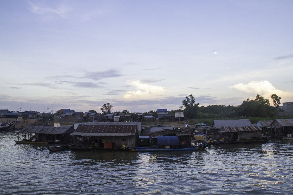 Floating village on the Mekong