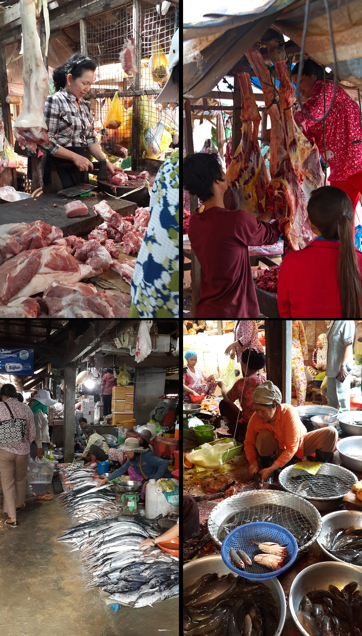 Collage wet market