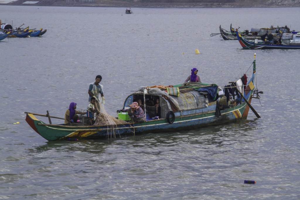Colorful Cham boat