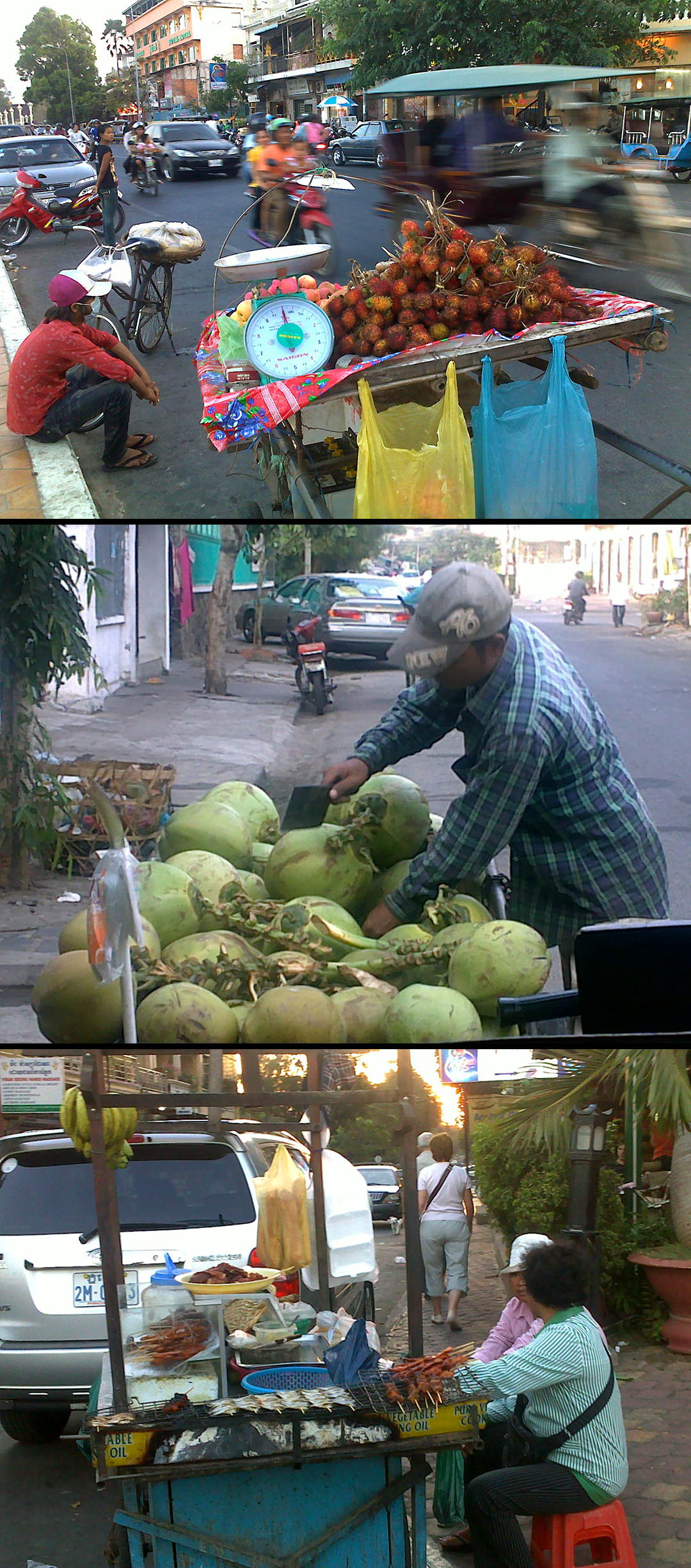 Collage Street Vendors